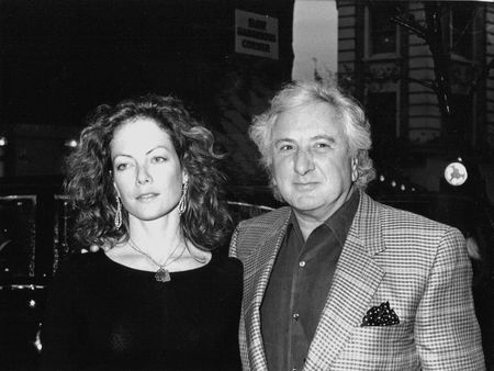 jenny: London, England - April 20, 1989 - Michael Winner, British film director, attends a celebrity event with Jenny Seagrove, British actress.