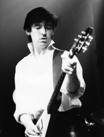 chris: Londres - el 7 de julio de 1978 - Chris Spedding, cantante de pop brit�nica, realiza vivo en el escenario.  Editorial