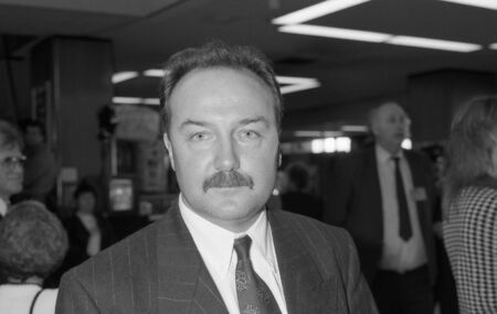 scottish parliament: Brighton, England - October 1, 1991 - George Galloway, Labour Member of Parliament for Hillhead, visits the party conference.