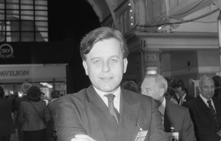 conservative: Blackpool, England - October 10, 1989 - John Patten, Home Office Minister & Conservative Member of Parliament for Oxford West, visits the party conference.