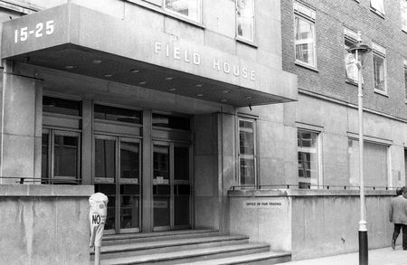 London, England - March 31, 1990 - Headquarters of the Office of Fair Trading, Field House.