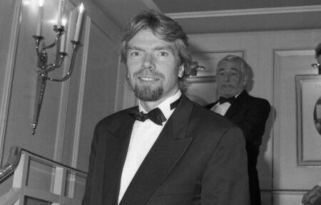 Londra - 19 ottobre 1980 - Richard Branson, responsabile del gruppo Virgin aziende, partecipa a un evento di celebrit�.
