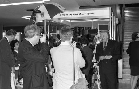 deputy: Brighton, England - October 1, 1991 - Roy Hatterseley, Deputy Leader of the Labour Party, poses for press photographers at the party conference.