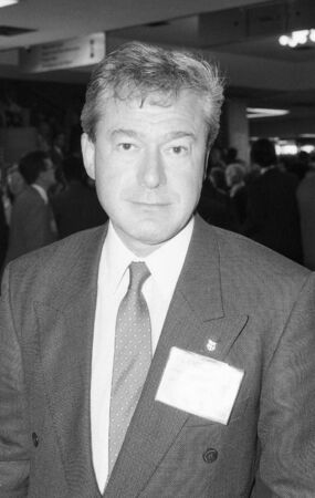 newham: Brighton, England - October 5, 1989 - Tony Banks, Labour party politician, visits the party conference.