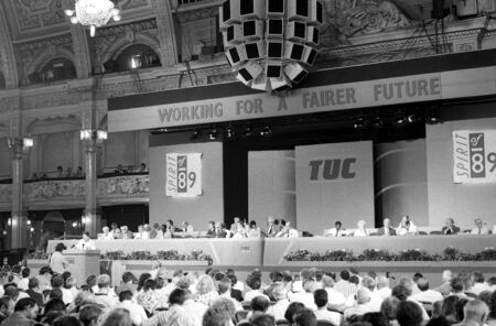 lancashire: Blackpool, England - September 4, 1989 - General view of the annual Trades Union Congress.