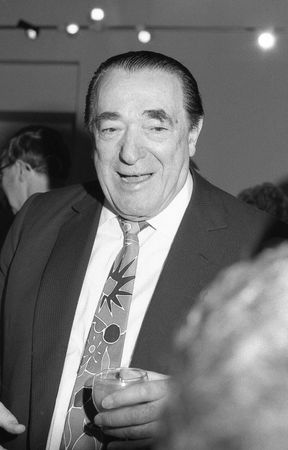 maxwell: London, England - April 17, 1991 - Robert Maxwell, Media tycoon, attends a reception. He died in November 1991.