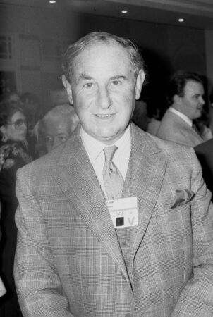 Blackpool, England - October 10, 1989 - Robert Adley, Conservative party Member of Parliament for Christchurch, visits the party conference.
