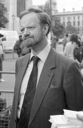 foreign secretary: London, England - June 5, 1990 - Robin Cook, former British Foreign Secretary & Labour party Member of Parliament for Livingstone, attends a photo call outside the House of Commons. He died in August 2005.
