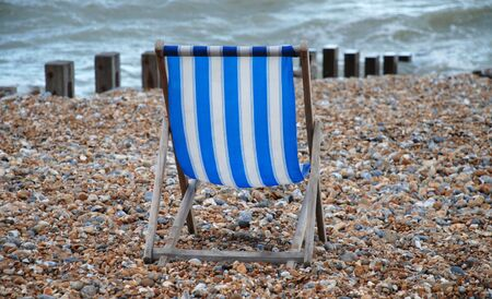 Empty deckchair, St.Leonards Stock Photo - 7820242
