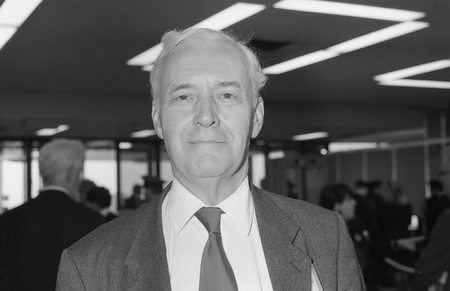 Brighton, England - October 1, 1991 - Rt.Hon. Tony Benn, Labour party Member of Parliament for Chesterfield, attends the party conference. Stock Photo - 10604376