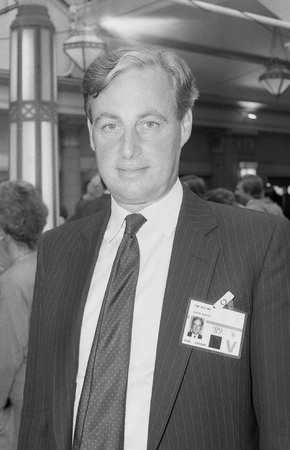 conservative: Blackpool, England - October 10, 1989 - Tim Yeo, Conservative party Member of Parliament for Suffolk South, attends the party conference.