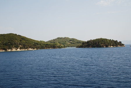 family owned: Skorpios island, owned by the famous Onassis shipping family, near Lefkada in Greece.