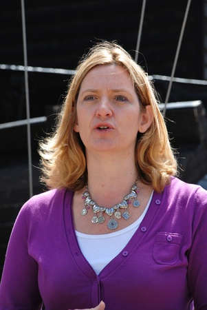 hastings: Hastings, England - July 30, 2011 - Amber Rudd, Conservative party Member of Parliament for Hastings and Rye, speaks at the launch of the Old Town Carnival Week.