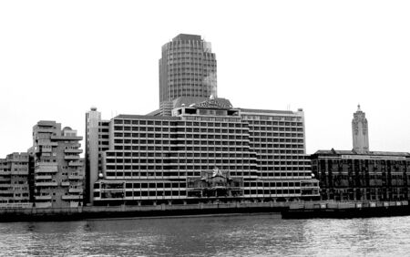 London, England - September 18, 1991 - The iconic 1970 designed Sea Containers House at 20 Upper Ground on the South Bank of the River Thames. In 2011 there are plans to redevelop the building to include a 360 bedroom hotel.