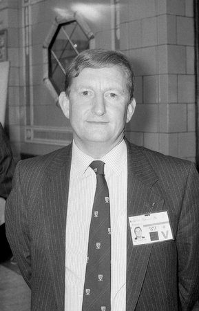 conservative: Blackpool, England - October 10, 1989 - Nicholas Bennett, Conservative party Member of Parliament for Pembrokeshire, attends the party conference.
