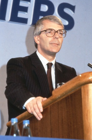 LONDON, England - June 27, 1991 - Rt.Hon. John Major, British Prime Minister and Conservative party Leader, speaks at a conference. Stock Photo - 12271811