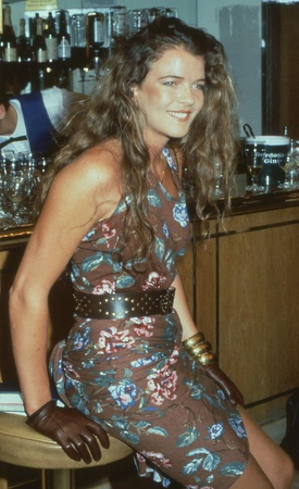 croft: London, England - April 10, 1991 - Annabel Croft, former British tennis player, attends a celebrity event. She is now a television sports commentator.