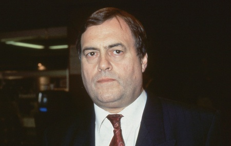 Brighton, England - October 1, 1991 - Rt.Hon. John Prescott, Labour party Member of Parliament for Kingston upon Hull East, attends the party conference. In May 1997 he became Deputy Prime Minister of Britain. Stock Photo - 12571593