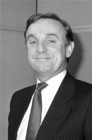 London, England - December 12, 1990 - Richard Ottoway, Conservative party Parliamentary Candite for Croydon South, attends a photo call. He was previously Member of Parliament for Nottingham North. Stock Photo - 13337687