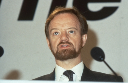 foreign secretary: London, England - December 12, 1990 - Rt.Hon. Robin Cook, Labour party Member of Parliament for Livingston, speaks at a press conference. Later serving as Foreign Secretary from 1997-2001 he died in August 2005.