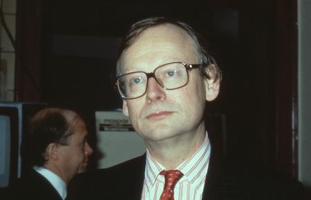 fischerei: Blackpool, England - 10. Oktober 1989 - Rt.Hon. John Selwyn Gummer, Minister f�r Landwirtschaft, Fischerei und Ern�hrung und Konservative Partei Mitglied des Parlaments f�r Suffolk Coastal, besucht den Parteitag.