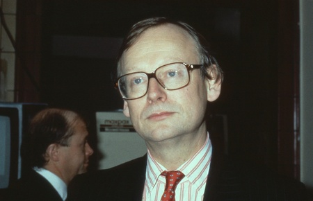 fisheries: Blackpool, England - October 10, 1989 - Rt.Hon. John Selwyn Gummer, Minister for Agriculture, Fisheries and Food and Conservative party Member of Parliament for Suffolk Coastal, attends the party conference. Editorial
