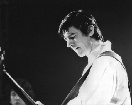 London, England - July 29, 1978 - Chris Spedding, British rock and pop musician, performs live on stage.