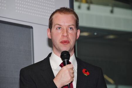 reynolds: Hastings, England - November 10, 2014 - Jonathan Reynolds, Shadow Minister for Energy and Climate Change and Labour M.P. for Stalybridge and Hyde, speaks at an energy efficiency policy announcement.
