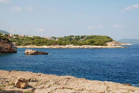 The rocky coastline at Patitiri on the Greek island of Alonissos.