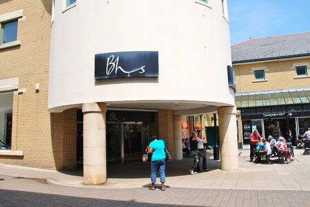 home stores: Hastings, England - June 8, 2016 - A branch of Department Store chain British Home Stores (BHS). Founded in 1928, the business with 163 UK stores was placed in Administration in April 2016. Editorial