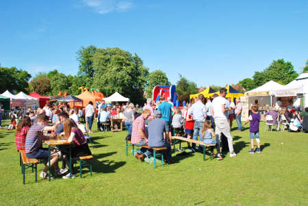 Tenterden, England - May 21, 2017 - People enjoying the first ever Food and Drink Festival at Tenterden in Kent. It is hoped to make it an annual event.