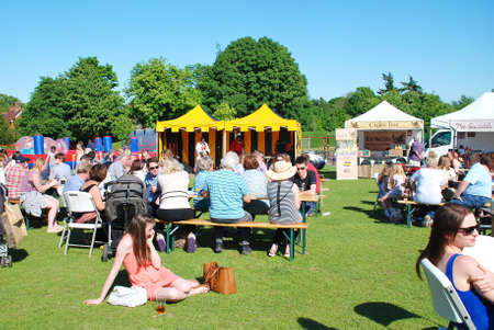 Tenterden, England - May 21, 2017 - People enjoying the first ever Food and Drink Festival at Tenterden in Kent. It is hoped that it will become an annual event.
