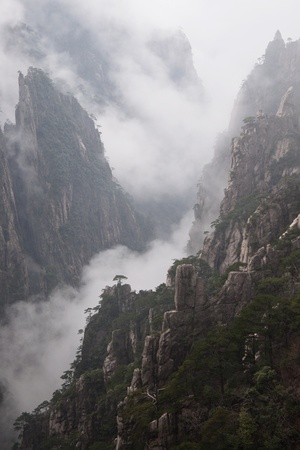 Mountain Huangshan, National Park,, Anhui Province,Natural Heritage ,China photo