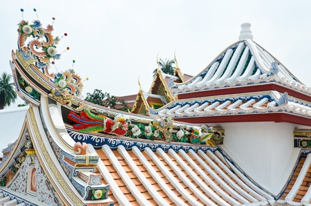 roof of the chinese church photo