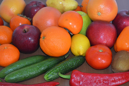 fruitage: Fresh fruits and vegetables, apples