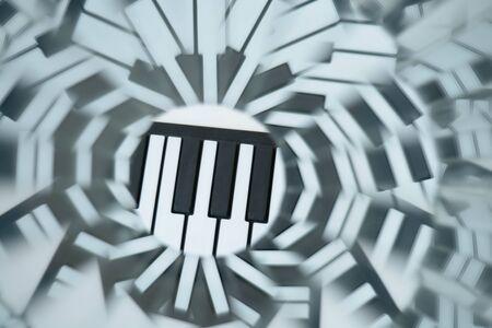 nat: Abstract natural background, kaleidoscope effect, piano keys Stock Photo