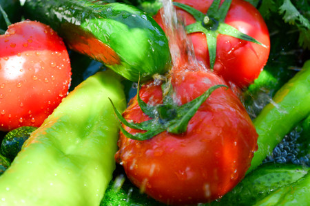 Fresh fruits and vegetables, healthy food