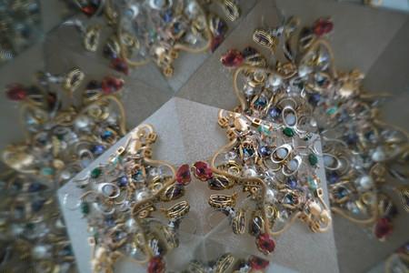 Abstract background, jewelry, kaleidoscope effect