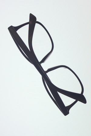 rimless: Glasses on white background