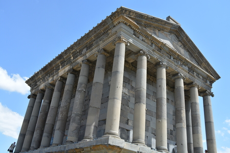 unesco: Temple of Garni, a first century Hellenic temple near Garni, Armenia Stock Photo