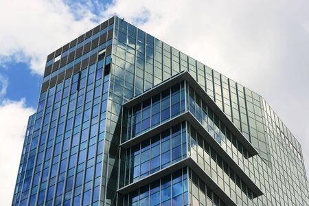 Top of the corporate building - modern headquarters.
