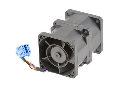 airflow: Powerful cooling fan using two rotors for better airflow. Isolated over white.