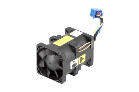 airflow: Powerful cabled cooling fan using two rotors for better airflow. Isolated over white.