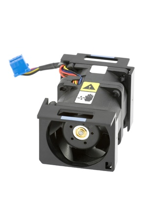 airflow: Powerful computer cooling fan using two rotors for better airflow. Isolated over white.