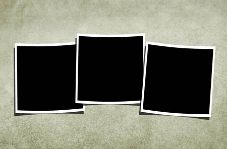 Three blank over vintage textured background. Stock Photo - 16977726