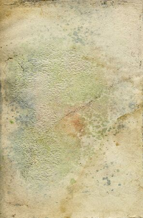 Stained vintage paper background  Grainy textured surface