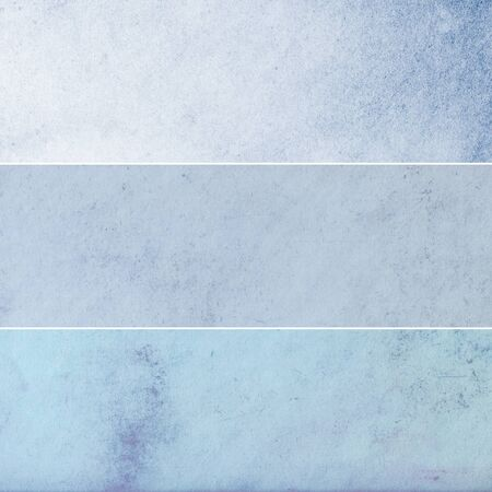 Collection of light blue abstract vintage backgrounds. Various textures.