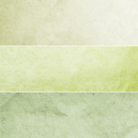 creasy: Collection of light green and yellow abstract vintage backgrounds. Various textures.