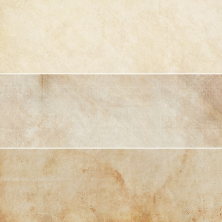 Collection of light brown abstract vintage backgrounds. Various textures.