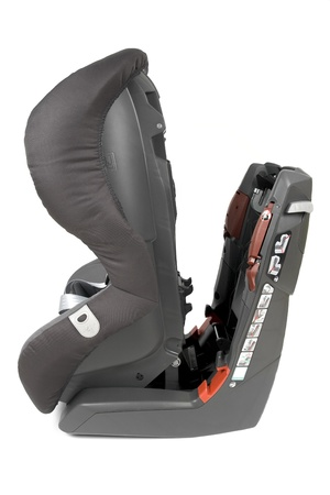 Modern safety car seat for children isolated on white background.